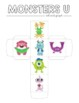 Disney Inspired Monsters University Roll and Graph Activity and Data Sheets