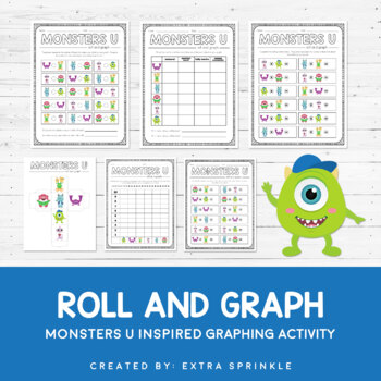 Disney Inspired Monsters University Roll and Graph Activit