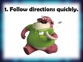 Monsters University Whole Brain Teaching Rules