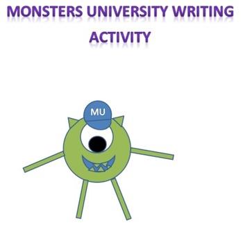 Monsters University Writing/Art Activity