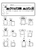 Monsters Uppercase/Lowercase Letter Match Game