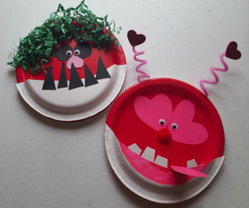 Monsters' Valentine Ball - Station 4 Make-a-Monster Story Time