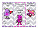Monsters Valentine's Day Cards