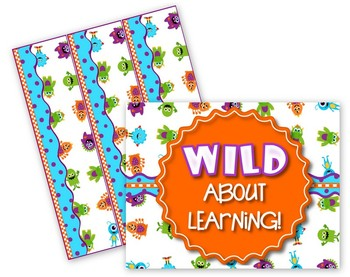 Monsters Wild About Learning Bulletin Board Set - FREE