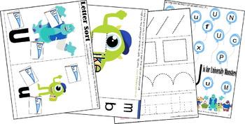 Monsters Worksheets for Preschool, Kindergarten, 1st Grade