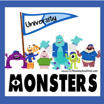 Monsters Worksheets for Preschool, Kindergarten, 1st Grade
