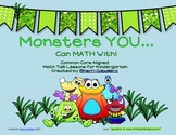 """""""Monsters YOU""""... Can Math With, Common Core-Aligned Math Talks"""