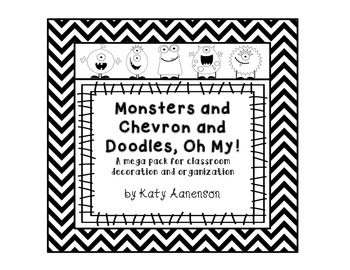 Monsters and Chevron and Doodles, Oh My!