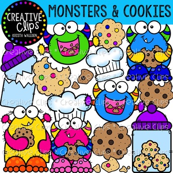 Monsters and Cookies: Monster Clipart {Creative Clips Clipart}
