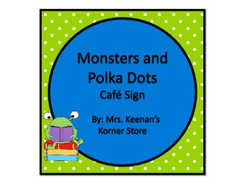 Monsters and Lime Polka Dots CAFE