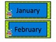 Monsters and Polka Dots Calendar Set with Name Plates and Classroom Labels