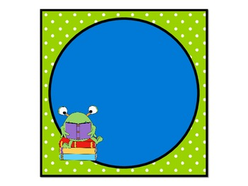 Monsters and Polka Dots Welcome Sign and Table Numbers 1-6