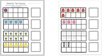 Monsters and Pumpkins Kindergarten Literacy and Math Activities