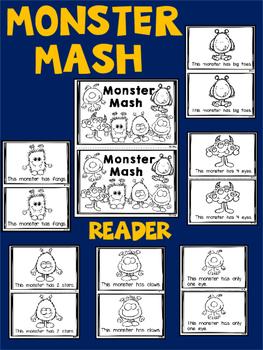 Monsters and Spiders {2 Emergent Readers for Kindergarten} Halloween