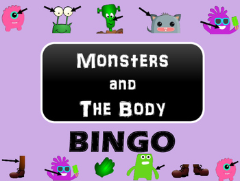 Monsters and The Body BINGO - Body Vocabulary in English