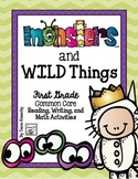 Monsters and Wild Things - First Grade Math and Language Arts Activities