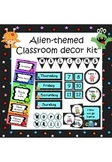 Monsters and aliens themed classroom decoration set (with editable elements)