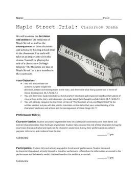 """Monsters are Due on Maple Street"" Mock Trial"