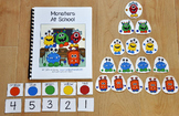 Monsters at School Adapted Book (Numbers and Colors)