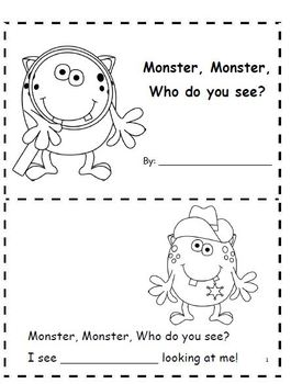 Monsters at School    Language Arts & Math Activities/ School Tour