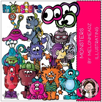 Monsters clip art - COMBO PACK- by Melonheadz