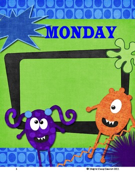 Monsters day of the Week