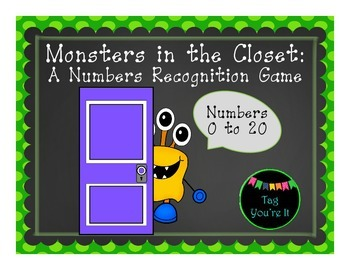 Monsters in the Closet: A Numbers Recognition Game for Kindergarten (1-20)