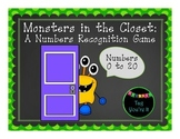 Monsters in the Closet: A Numbers Recognition Game for Kin