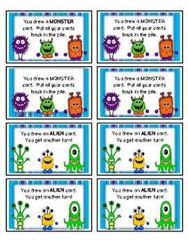 Monsters -vs- Aliens:  A Game To Practice Place Value