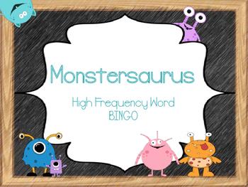 Monstersaurus High Frequency Word Bingo