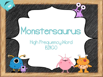 Monstersaurus High Frequency Word Bingo
