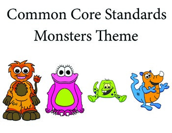 Monstersmonster 1st grade English Common core standards posters
