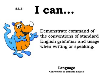 Monstersmonster 2nd grade English Common core standards posters