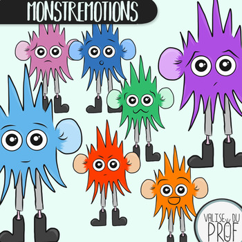 Monstremotions (les monstres émotions) cliparts