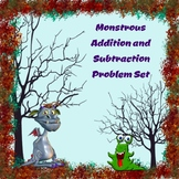 Monstrous Halloween Addition and Subtraction Word Problems Set