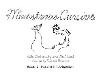 Monstrous Cursive Book - 2