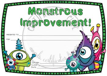Monstrous Improvement Award