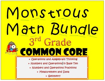 Monstrous Math Bundle - Common Core Games for Third Grade
