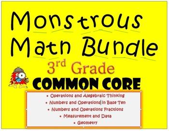 Monstrous Math Bundle - Common Core Games for Third Grade