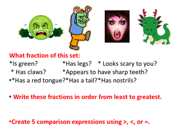 Monstrous Math Comparing and Ordering Fractions