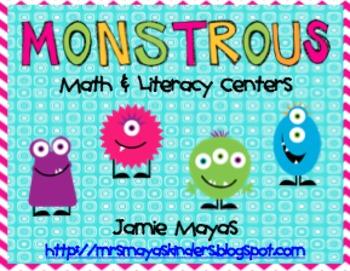 Monstrous Math & Literacy Centers