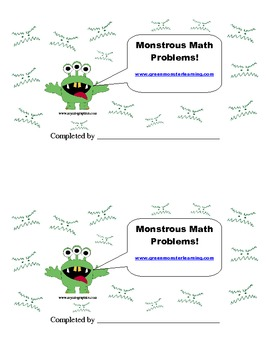 Monstrous Math Problems: Problem Solving for the Primary Grades