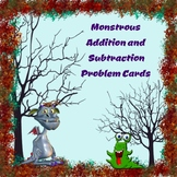Monstrous Halloween Addition and Subtraction Word Problem Cards