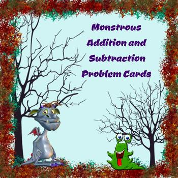 Monstrous Addition and Subtraction Word Problem Cards