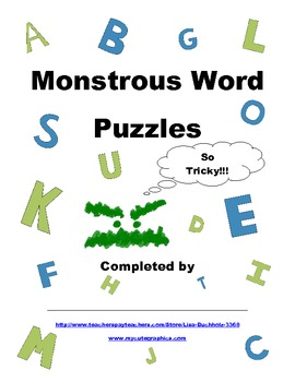 Monstrous Word Puzzles