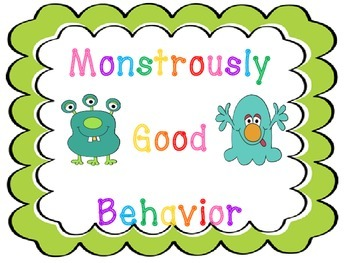 """Monstrously"" Good Behavior Clip Chart"
