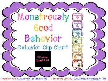 """Monstrously"" Good Behavior Clip Chart"