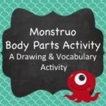 Spanish Vocabulary:  Monstruo Activity (Body Parts)