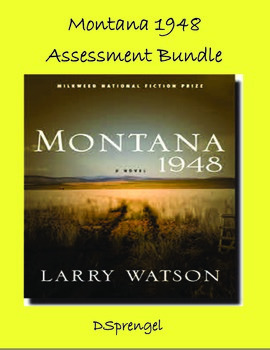Montana 1948 (Larry Watson) Quiz and Test Assessment Bundle