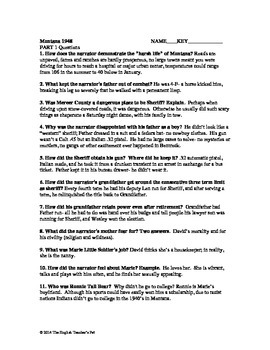 Montana 1948 Questions and Answer Key, Part One